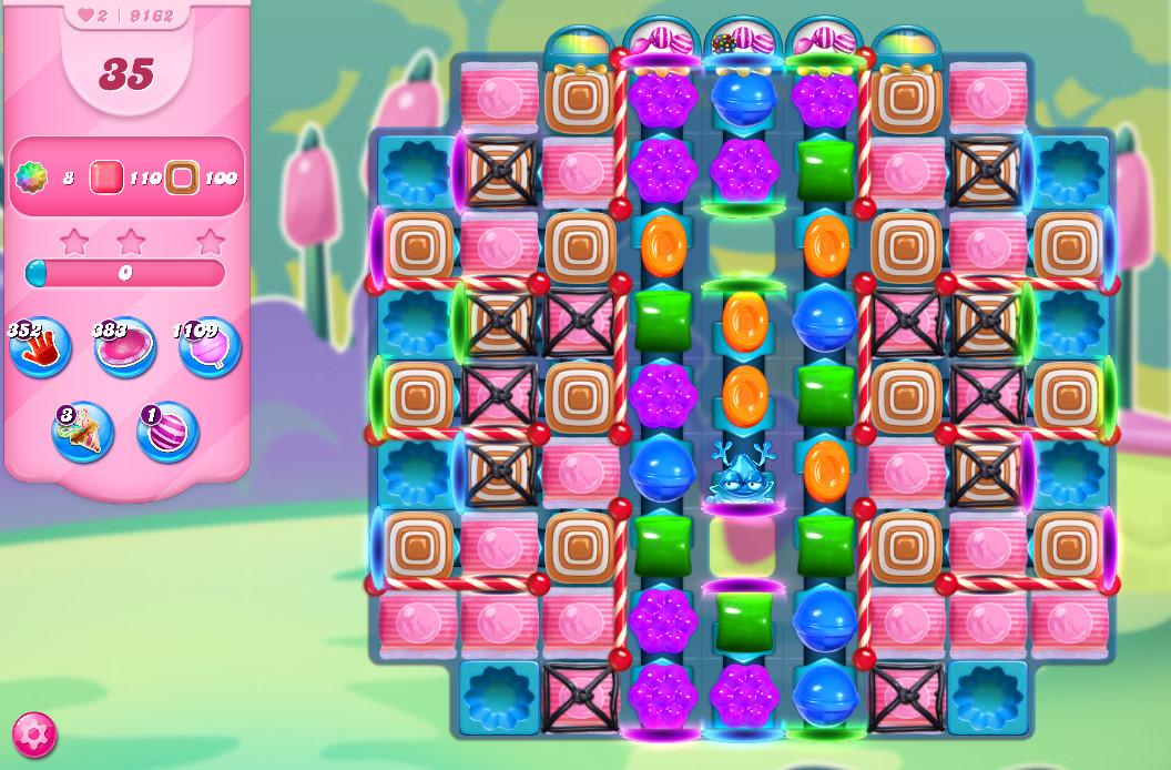 Candy Crush Saga level 9162