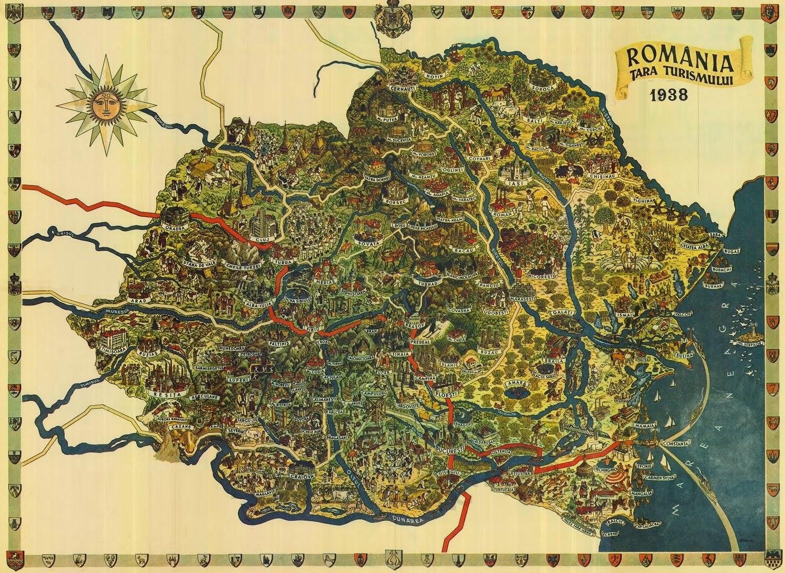 туристическая карта Румынии