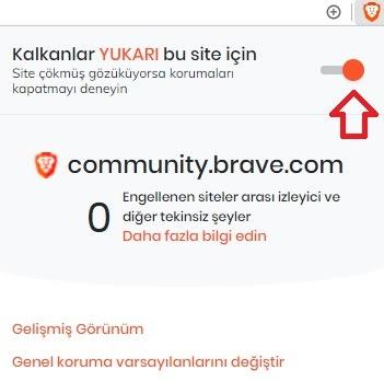 brave tarayıcı-reklam engelleme