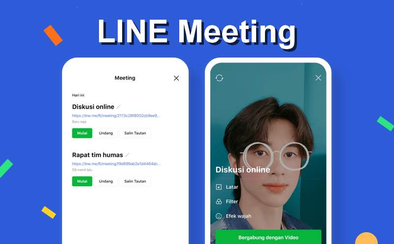 Video Call di Line 500 Orang (line.me)