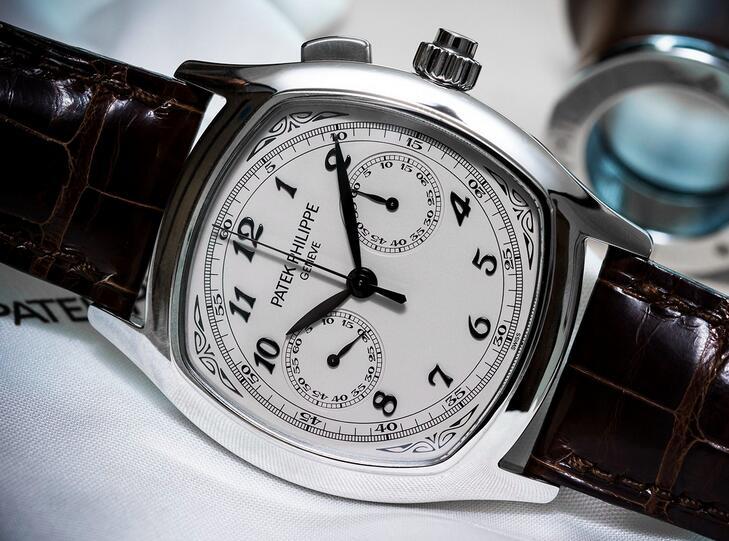01f208a331f Patek Philippe Grand Complications Acero Inoxidable Plata Reloj 5950A  cronógrafos cronómetro forma elegante para el caso de acero en forma de  cojín
