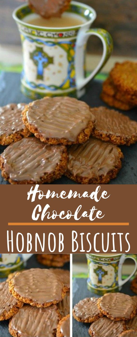 Homemade Chocolate Hobnob Biscuits #desserts #cookies