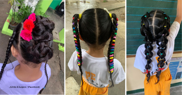 Young Girl Who Goes to School with Elaborate Hairstyles Goes Viral