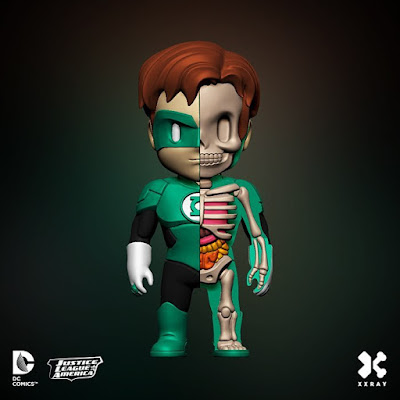 DC Comics XXRAY Dissection Series 2 Vinyl Figures by Jason Freeny & Mighty Jaxx - Green Lantern