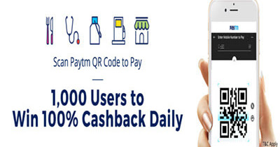 Paytm Scan And Pay Cashback Offers 2018