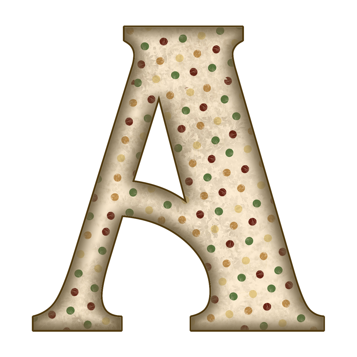 How to scrapbook letters -  Aged Tan Dots Png Free Scrapbook Alphabet Letters