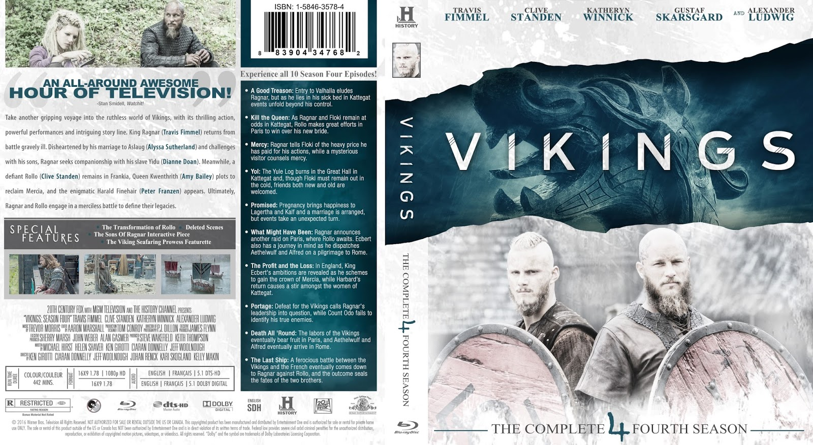 Vikings Season 4 Bluray Cover | Cover Addict - Free DVD
