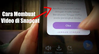 Cara Membuat Video di Snapchat