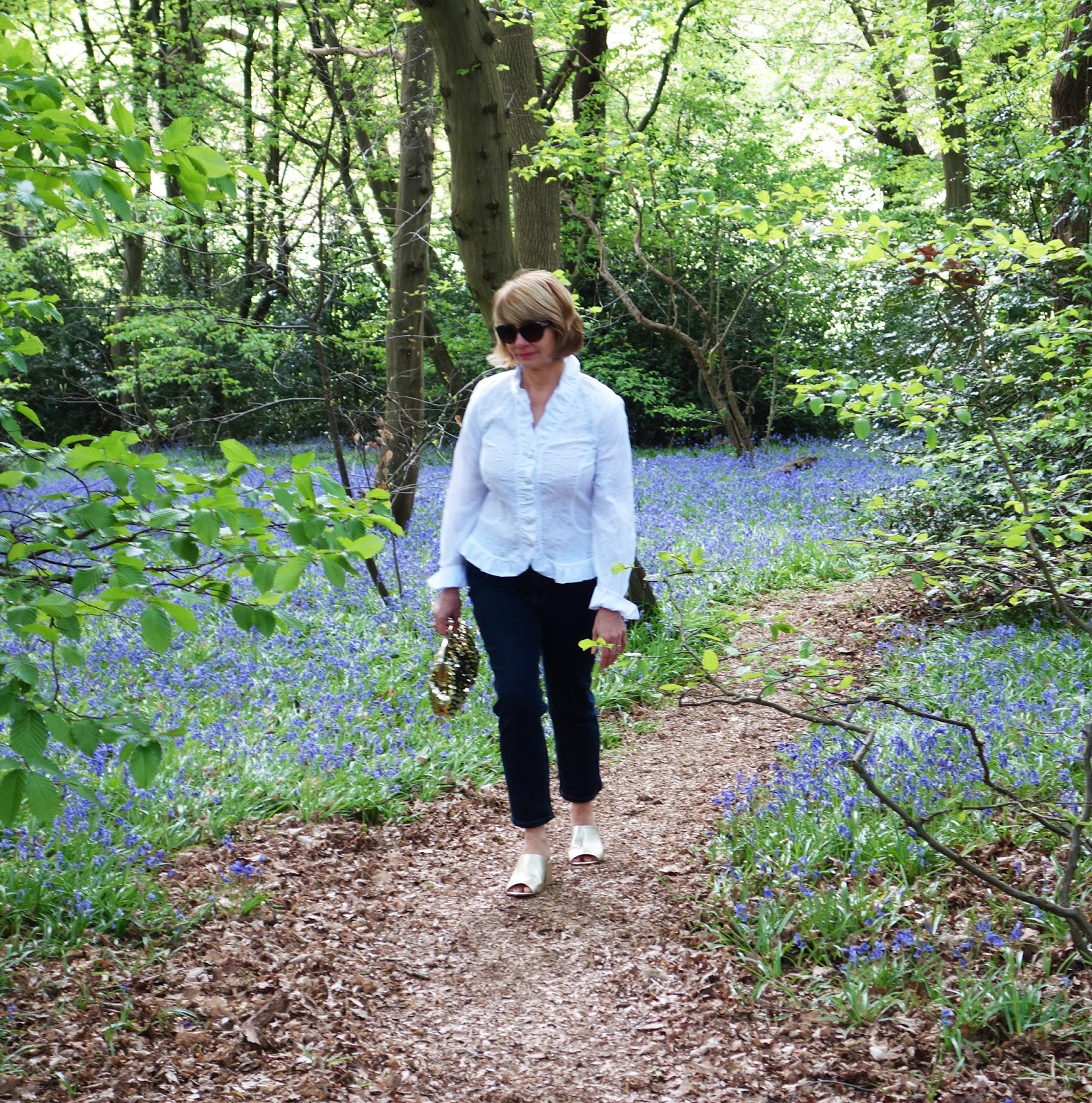 Is This Mutton blogger Gail Hanlon in a secret bluebell wood