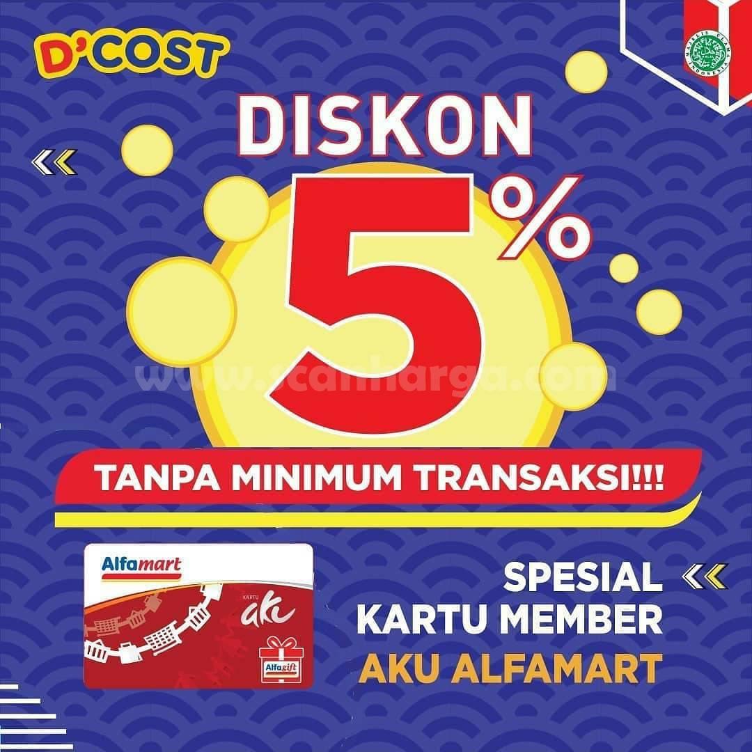 D'Cost Promo Diskon 5% Spesial Kartu Member AKU ALFAMART [ALFAGIFT]