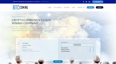شرح شركة btccoming للتعدين السحابي بأقل مبلغ 1 دولار