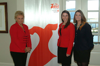 Eliana Papadakis - Go Red Women of Heart Honoree, Jennifer Davis – Senior Director of Go Red for Women, and Cassie Barnes - Sales Manager at Athertyn at Haverford Reserve