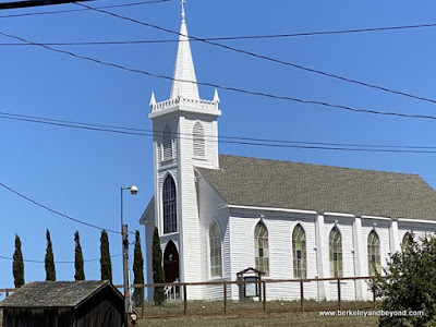 """St. Theresa's Church in the 1962 Alfred Hitchcock film """"The Birds"""" in Bodega, California"""