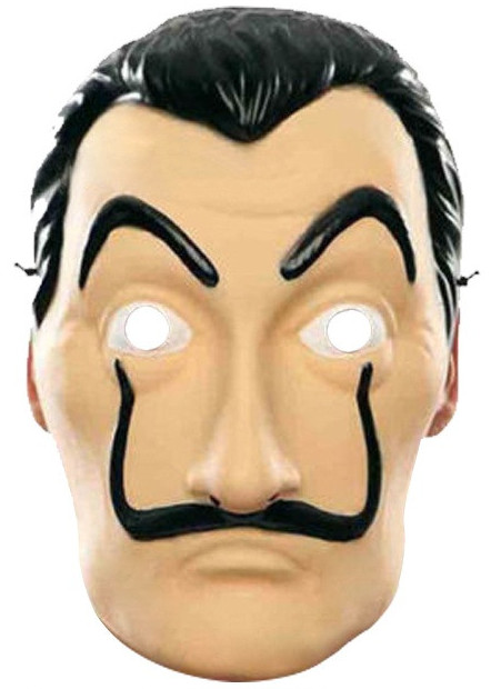 photograph regarding Donald Trump Mask Printable titled Dali Income Heist Design Free of charge Printable Mask. - Oh My Fiesta