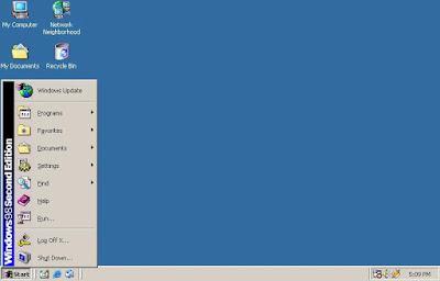 Windows 98 SE (Second Edition) Display