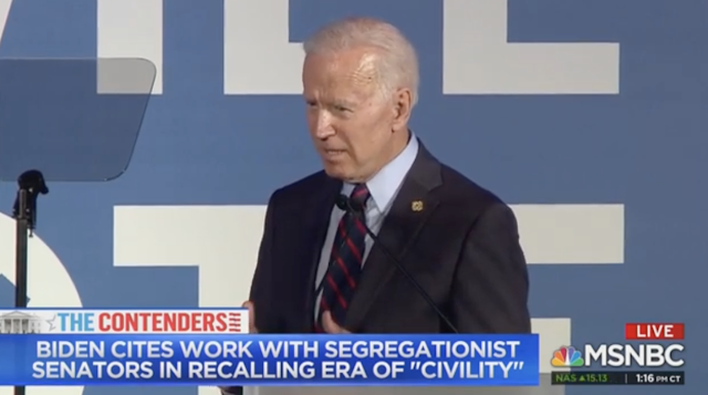 MSNBC ANCHOR IDENTIFIES SEGREGATIONIST SENATORS FROM BIDEN CONTROVERSY AS REPUBLICANS. THERE'S JUST ONE PROBLEM