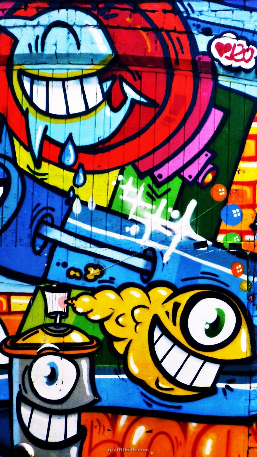 Graffiti, wallpapers, street art, background, Hintergründe, for mobile