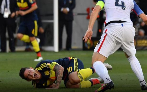 James Rodriguez Mengalami Cedera Di Bahu Saat Bermain Pada Copa Amerika 2016