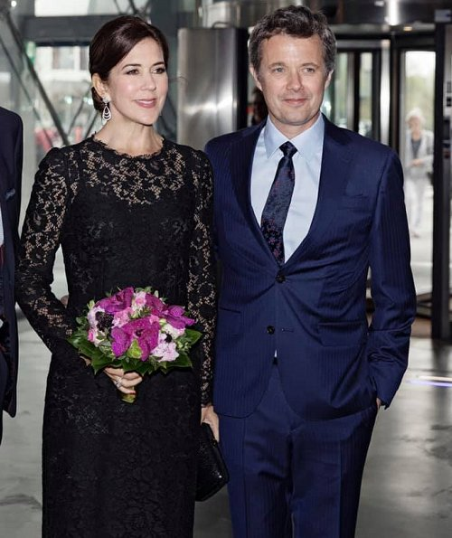 Crown Princess Mary wore a lace dress by Dolce and Gabbana, Gianvito Rossi Mesh pumps