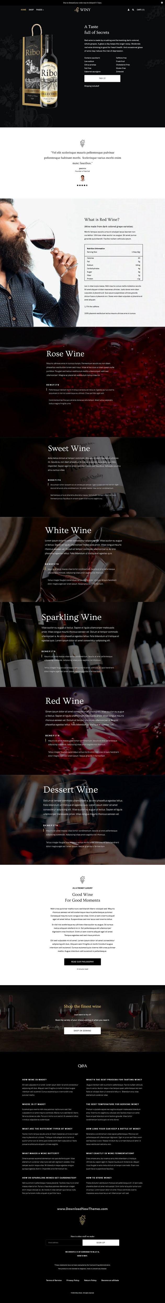 Wine Shop Shopify Theme