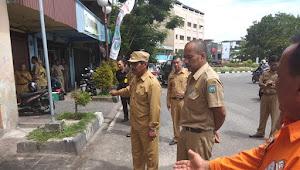 Bupati Beserta Rombongan Sidak DLH Kabupaten Belitung, 1 Orang ASN Tidak Masuk Karena Terkena Musibah