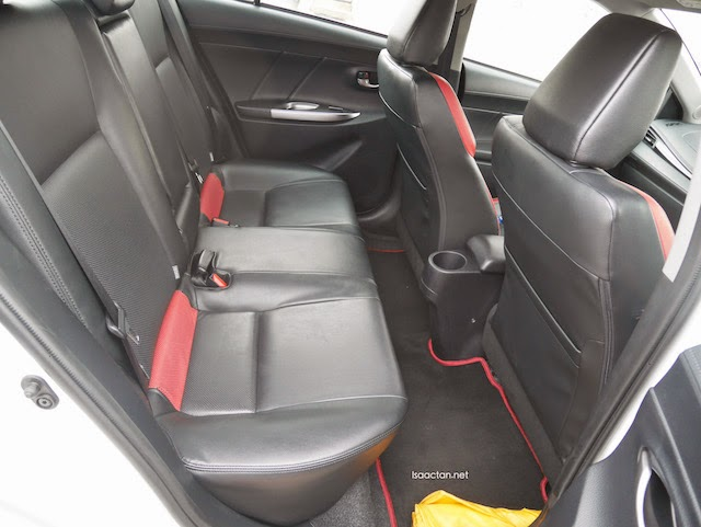 Spacious seats at the back, with a flat rear floor