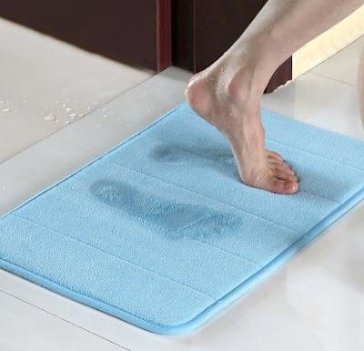 review keset kamar mandi anti slip memory foam