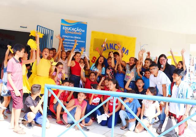 Prefeitura de Chapadinha-MA promove Ação Solidária com alunos da Educação Integral