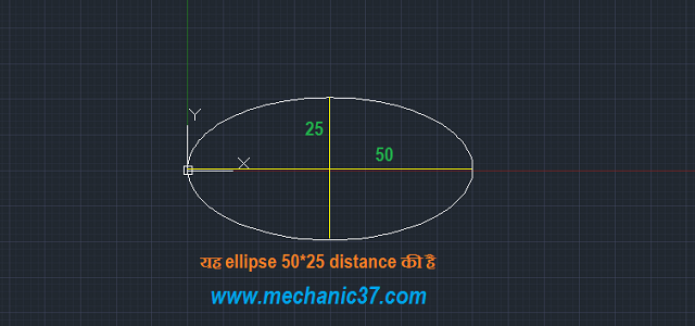how to draw ellipse in autocad 2016