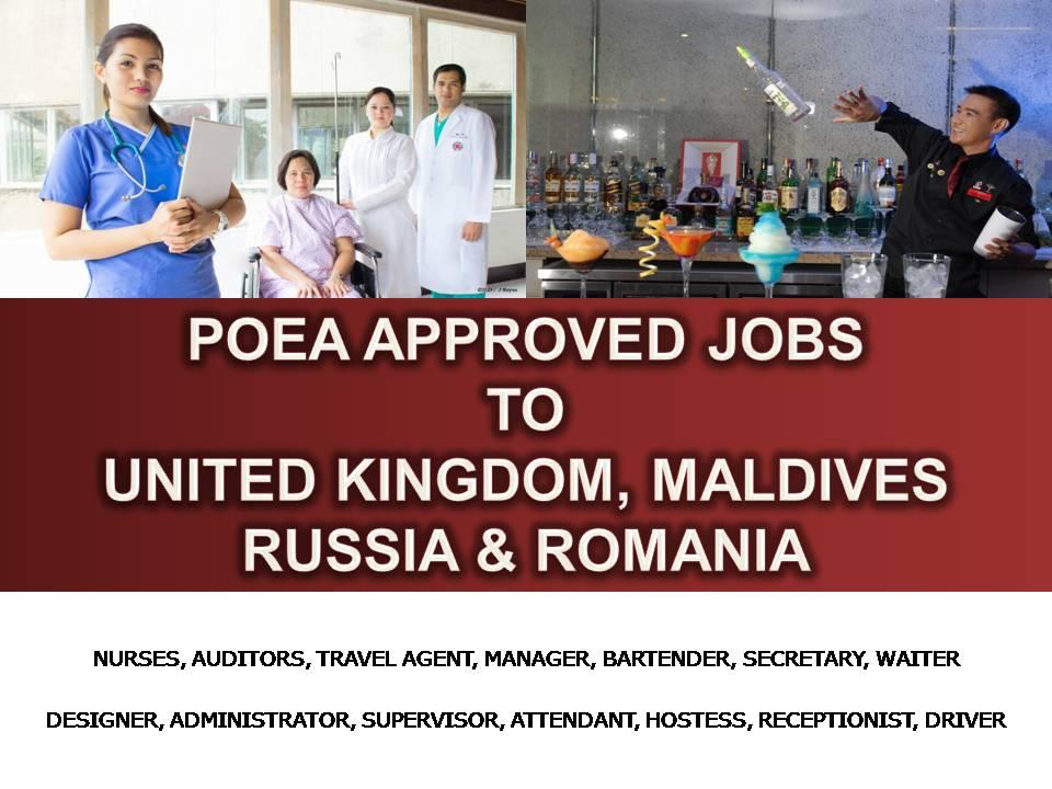 UNITED KINGDOM MALDIVES RUSSIA AND ROMANIA ARE HIRING FILIPINOS – Nurse Auditor