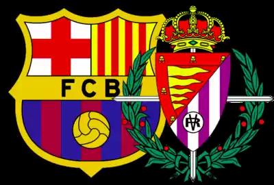 escudos de fc barcelona y real valladolid