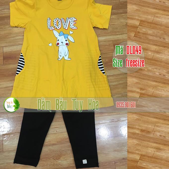 Bộ đôi áo và quần bầu siêu dễ thương DL049