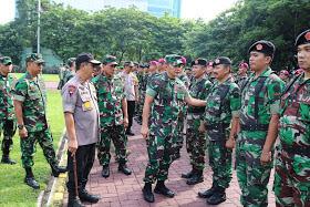 Apel Gabungan TNI-Polri dan Patroli Dalam Rangka Pengumuman Hasil Pemilu 2019