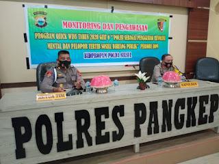 Tim Dari Bid Propam Polda Sulsel Lakukan Monitoring Dan Pengawasan Program Quickwins di Polres Pangkep