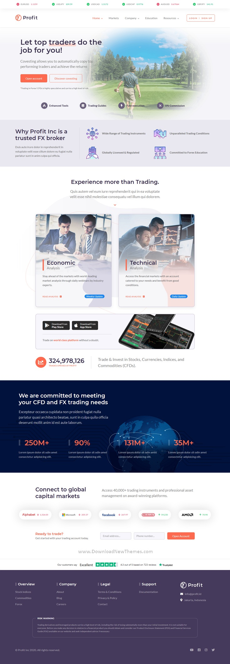 Forex and Finance HTML Template