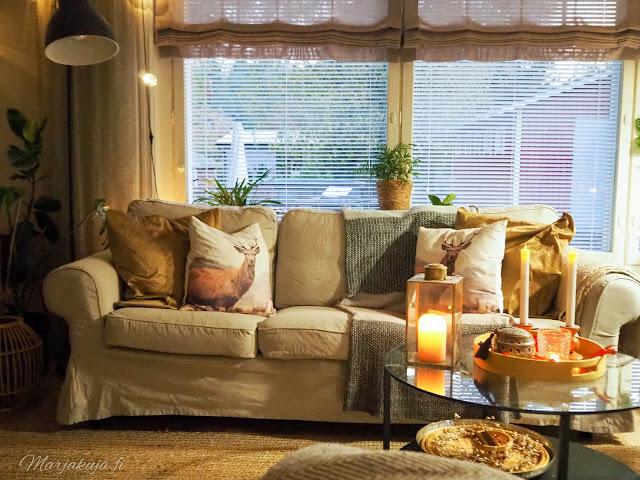 olohuone, olohuoneen sisustus, sisustus, ektorp sohva, boheemi boho, kirppislöytö, kirppistelijä