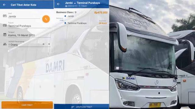 Harga Tiket Bus Damri Jambi Surabaya