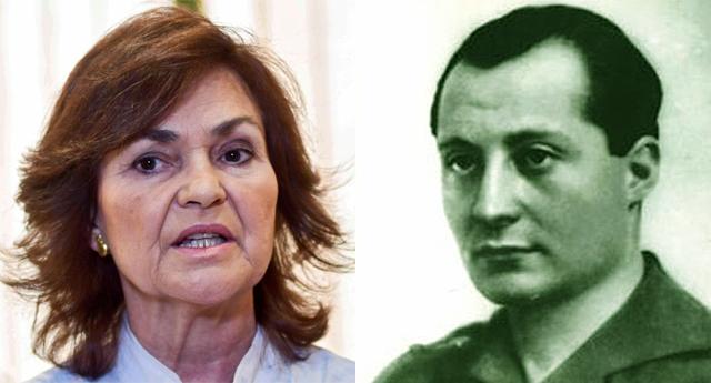 """Carmen Calvo: """"José Antonio Primo de Rivera es una víctima"""""""
