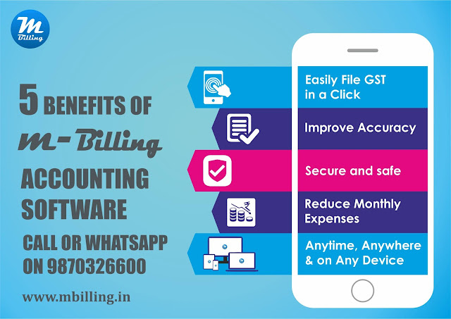 Accounting app, GST billing software & inventory management | m-Billing