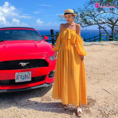 Váy maxi đi biển V223