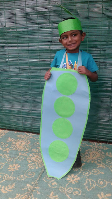 ideas para un disfraz de guisante para niños escolares
