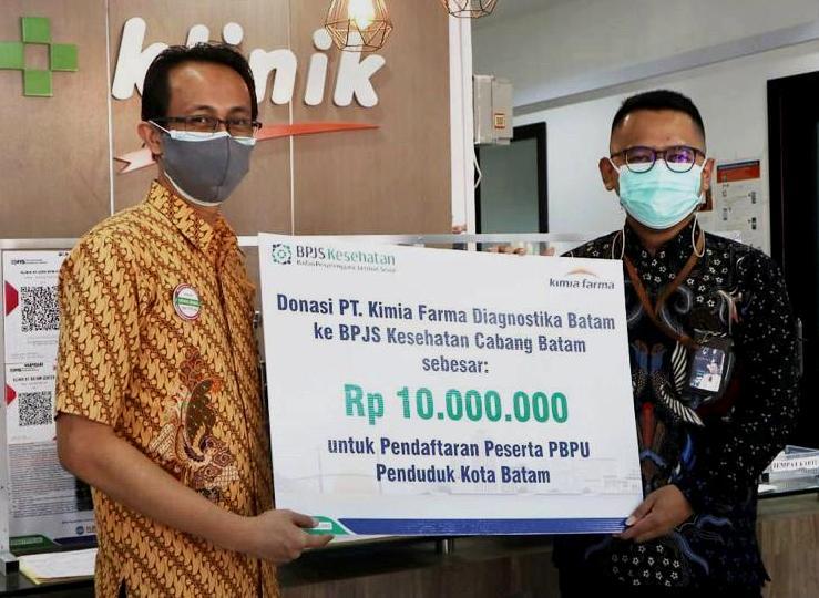 Program Donasi: Kimia Farma Beri Rp 10 Juta Ke BPJS Kesehatan Batam