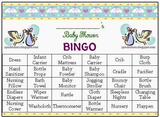 Spusht Chats Baby Shower Game Ideas Baby Shower Activity Ideas