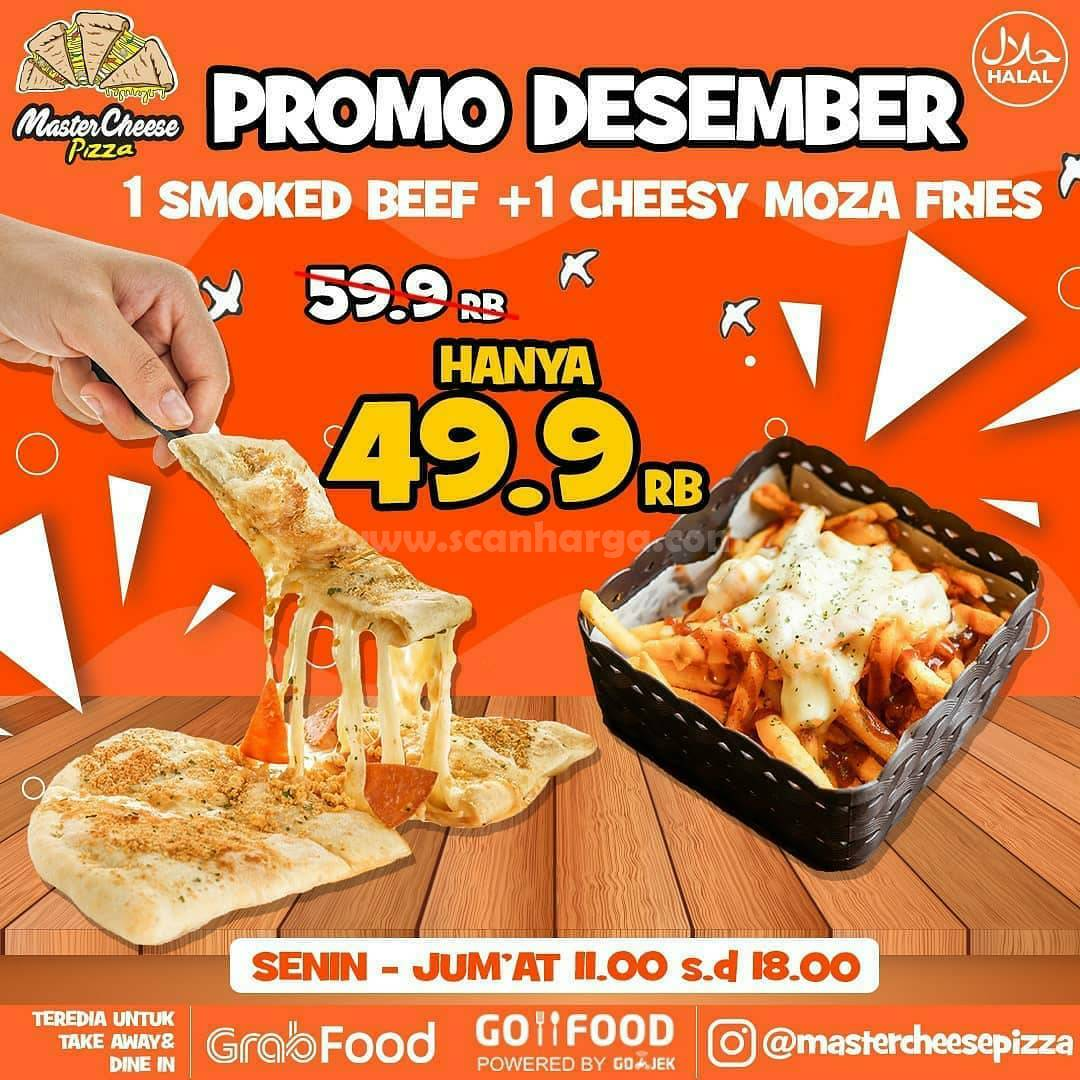 Master Cheese Pizza Promo Desember 2020 via Grabfood & Gofood