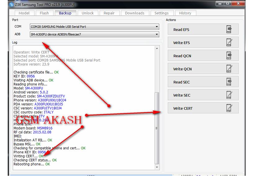 Akash Mobile Zone: Samsung A300FU Cert File 100% Working
