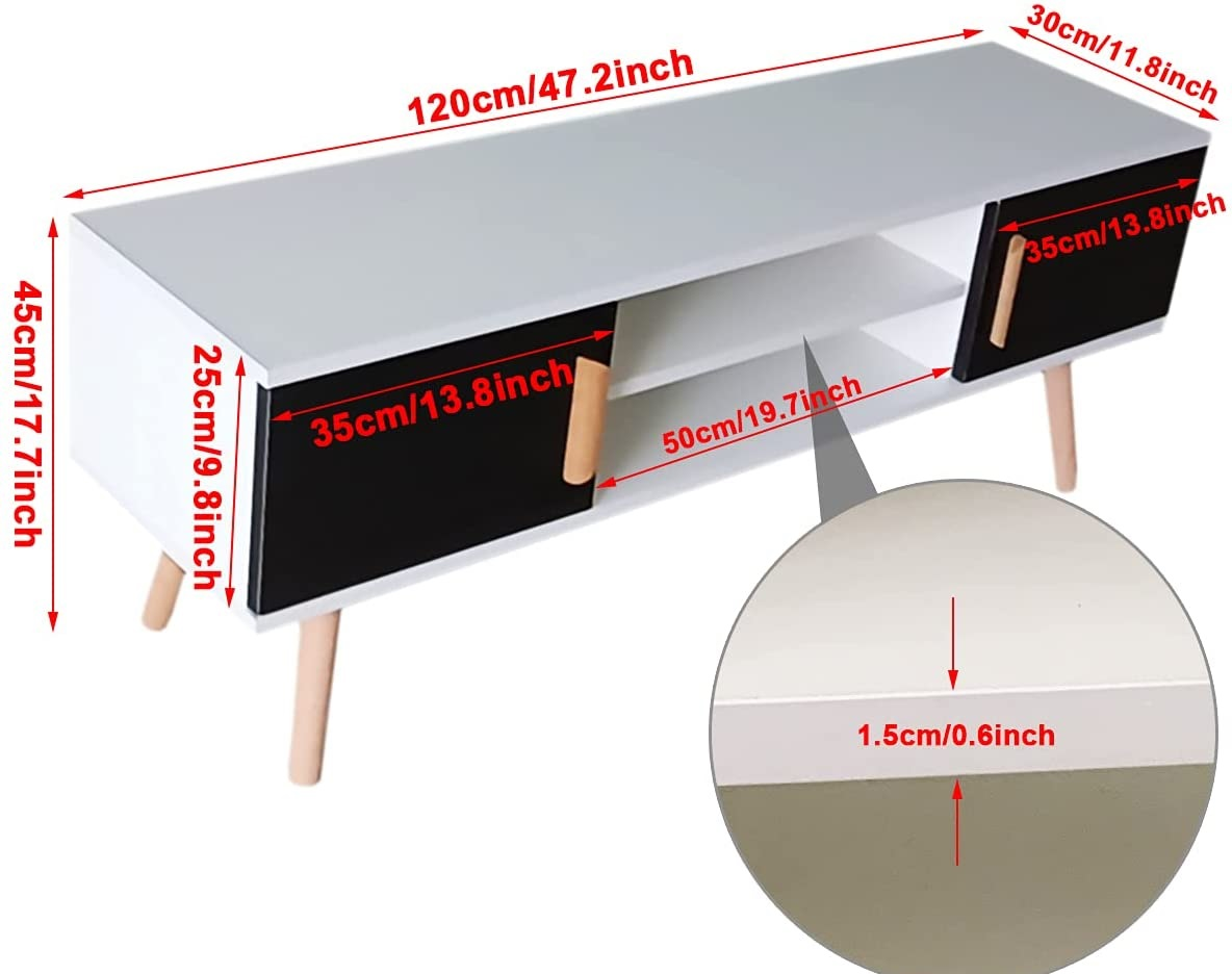 Best Minimalist Living room wooden cabinet with sholves design ideas