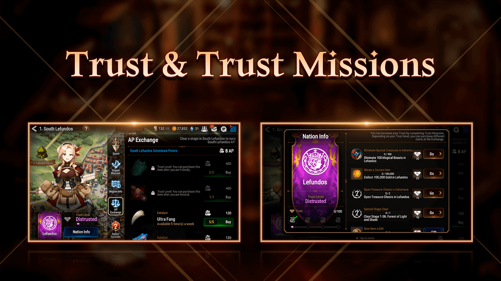 Epic Seven trust missions