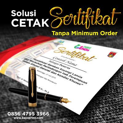 cetak sertifikat online satuan harga murah di jakarta timur