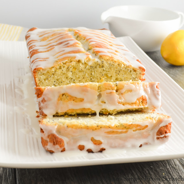Lemon Poppy Seed Loaf an easy to make loaf perfect for breakfast, brunch or dessert. serenabakessimplyfromscratch.com