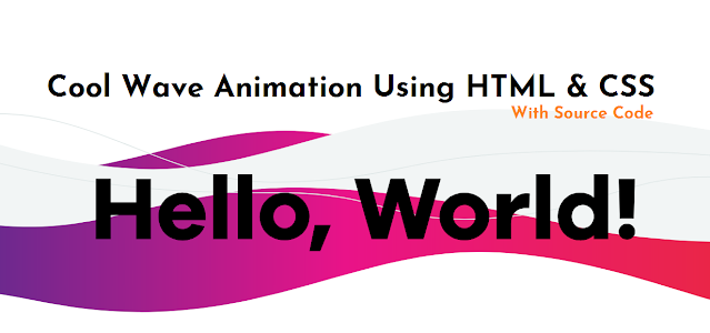 Cool Waves Animation html css